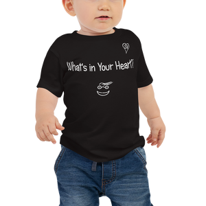 "Black ""Peace Heart"" Baby Short Sleeve Tee"