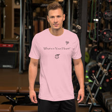 "Load image into Gallery viewer, Pink ""Scroll of Virtues"" Short-Sleeve Unisex T-Shirt"