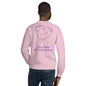 "Pink ""Hearts Aloft"" Unisex Sweatshirt"
