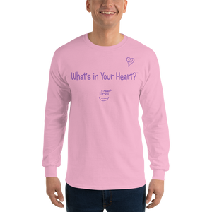"Pink ""Hearts Aloft"" Men's Long-Sleeve T-shirt"