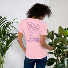 "Load image into Gallery viewer, Pink ""Peace Heart"" Short-Sleeve Unisex T-Shirt"