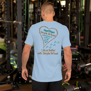 "Light Blue ""HeartSteps"" Short-Sleeve Unisex T-Shirt"