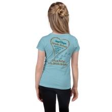 "Load image into Gallery viewer, Cancun Blue ""HeartSteps"" Girl's Cut Slim Fit T-Shirt"