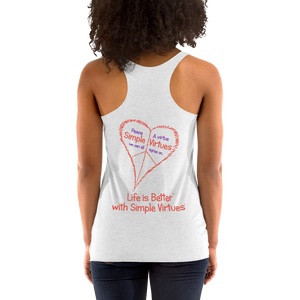 "Heather White Women's ""Peace Heart"" Racerback Tank"