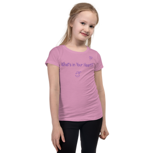 "Lilac ""Hearts Aloft"" Girl's Cut Slim Fit T-Shirt"