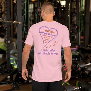 "Pink ""HeartSteps"" Short-Sleeve Unisex T-Shirt"