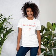 "Load image into Gallery viewer, White ""Heart Full of Virtues"" Short-Sleeve Unisex T-Shirt"