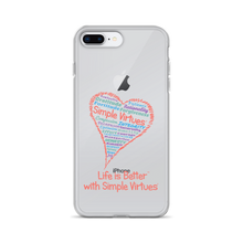 "Load image into Gallery viewer, ""Heart Full of Virtues"" iPhone Case for White and Gold phones"