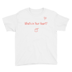 "White ""Peace Heart"" Youth Unisex T-Shirt"
