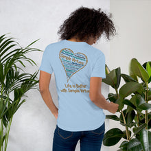"Load image into Gallery viewer, Light Blue ""Heart Full of Virtues"" Short-Sleeve Unisex T-Shirt"