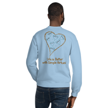 "Load image into Gallery viewer, Light Blue ""Hearts Aloft"" Unisex Sweatshirt"