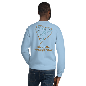 "Light Blue ""Hearts Aloft"" Unisex Sweatshirt"