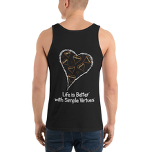 "Load image into Gallery viewer, Black Men's ""Hearts Aloft"" Tank Top"