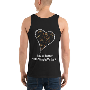 "Black Men's ""Hearts Aloft"" Tank Top"