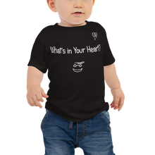 "Load image into Gallery viewer, Black ""Hearts Aloft"" Baby Short Sleeve Tee"
