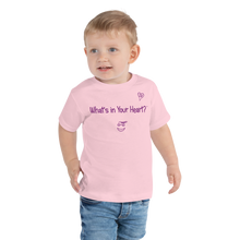 "Load image into Gallery viewer, Pink ""HeartSteps"" Toddler Short Sleeve Tee"