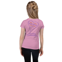 "Load image into Gallery viewer, Lilac ""Peace Heart"" Girl's Cut Slim Fit T-Shirt"