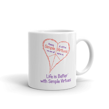 "Load image into Gallery viewer, ""Peace Heart"" Coffee mug"
