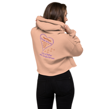 "Load image into Gallery viewer, Peach ""HeartSteps"" Crop Hoodie"