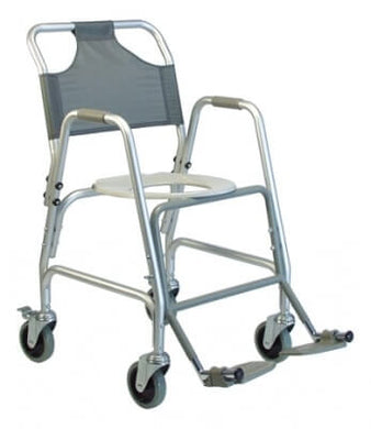Deluxe Shower Transport Chair with Footrests
