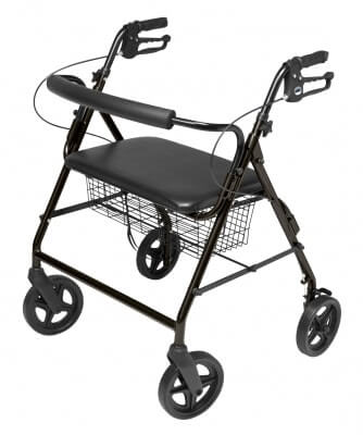 Lumex (Bariatric) Walkabout Four-Wheel Imperial Rollator - Contoured Backbar