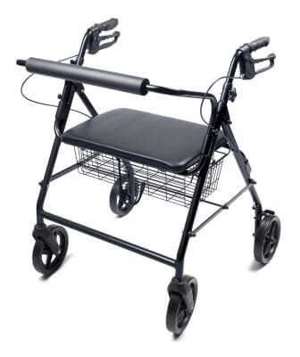 Lumex (Bariatric) Walkabout Four-Wheel Imperial Rollator - Straight Backbar
