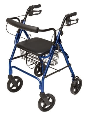 Lumex Walkabout Four-Wheel Contour Deluxe Rollator