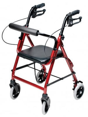 Lumex Walkabout Lite Junior Rollator, Burgundy