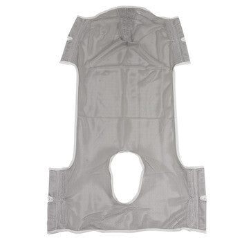 Patient Lift Commode Sling with Head Support, Dacron