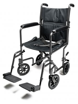 Steel Transport Chair, Silver Vein