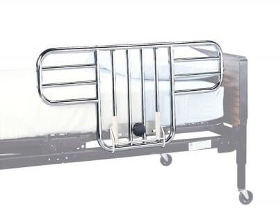 Universal Half Side Bed Rail, 1/2 Chrome