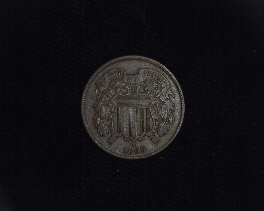 1865 Two Cent Piece XF Obverse - US Coin - Huntington Stamp and Coin