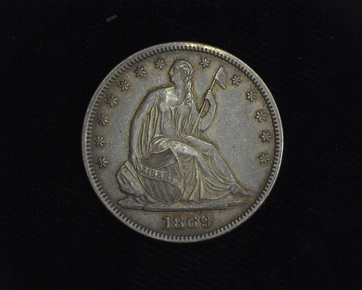 1869 Liberty Seated XF/AU Obverse - US Coin - Huntington Stamp and Coin