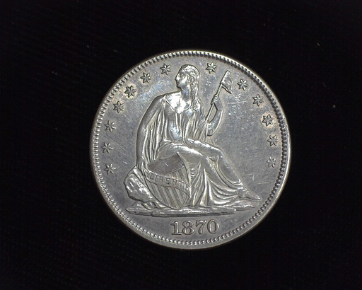 1870 Liberty Seated AU Obverse - US Coin - Huntington Stamp and Coin