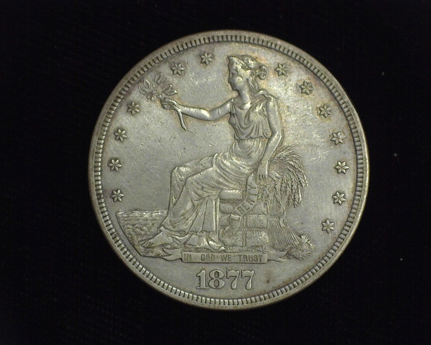 1877 Trade XF Obverse - US Coin - Huntington Stamp and Coin
