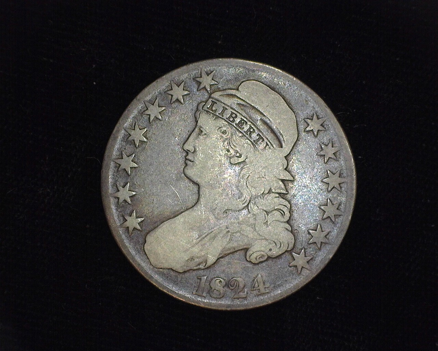 1824 Normal Capped Bust F Obverse - US Coin - Huntington Stamp and Coin