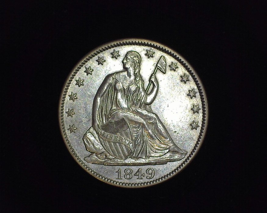 1849 Liberty Seated AU Obverse - US Coin - Huntington Stamp and Coin
