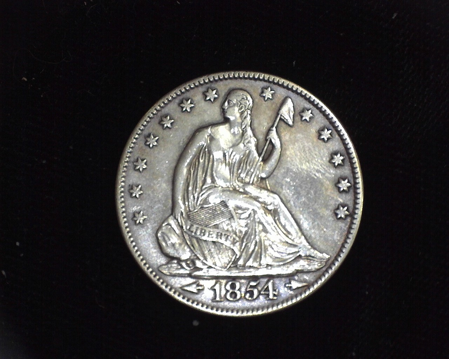 1854 O Liberty Seated XF Obverse - US Coin - Huntington Stamp and Coin