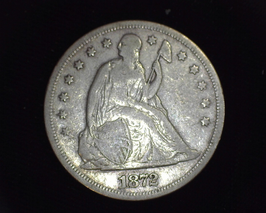 1872 With Motto Liberty Seated F Obverse - US Coin - Huntington Stamp and Coin