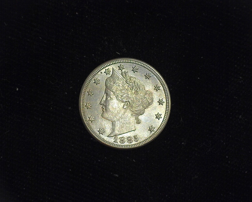 1885 Liberty Head UNC MS-60+ Obverse - US Coin - Huntington Stamp and Coin