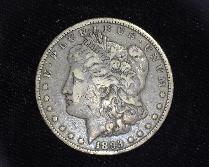 1893 CC Morgan VF Obverse - US Coin - Huntington Stamp and Coin