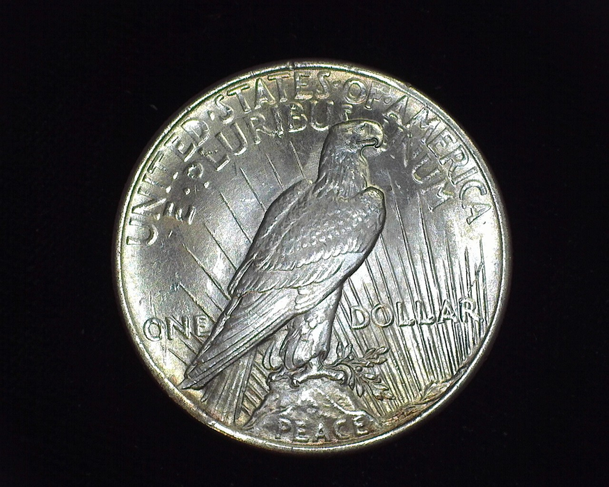 1925 Peace BU MS-64 Reverse - US Coin - Huntington Stamp and Coin