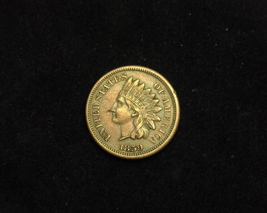 1859 Indian Head VF Obverse - US Coin - Huntington Stamp and Coin