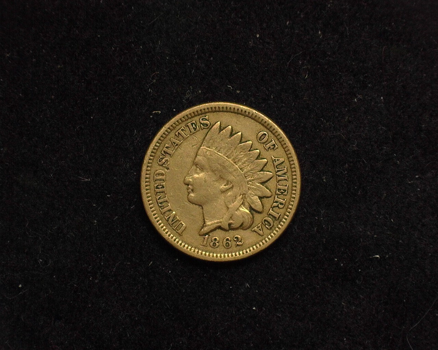 1862 Indian Head F/VF Obverse - US Coin - Huntington Stamp and Coin