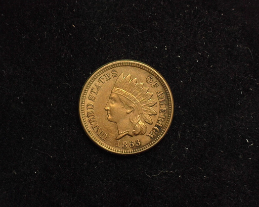 1863 Indian Head AU Obverse - US Coin - Huntington Stamp and Coin