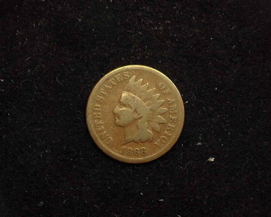1868 Indian Head G Obverse - US Coin - Huntington Stamp and Coin