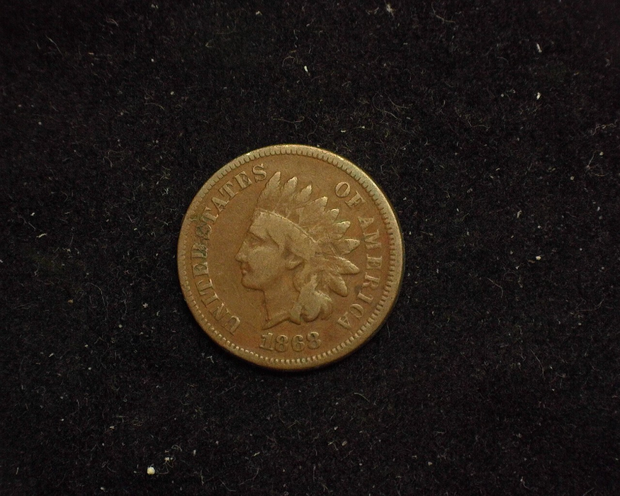 1868 Indian Head VG Obverse - US Coin - Huntington Stamp and Coin