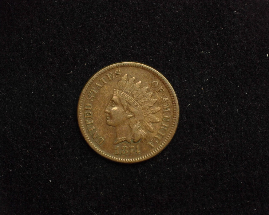 1874 Indian Head VF Obverse - US Coin - Huntington Stamp and Coin