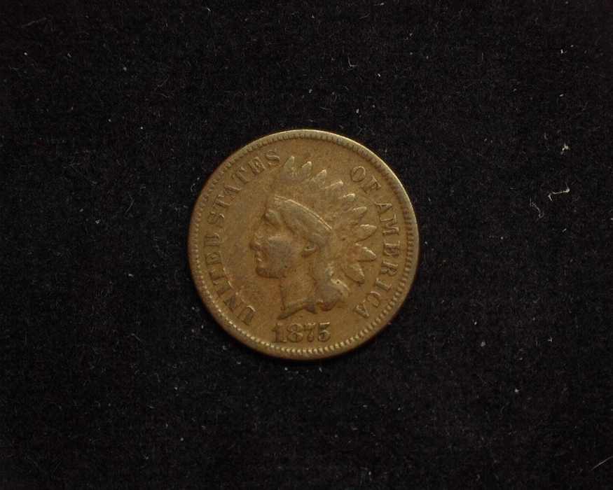 1875 Indian Head VG Obverse - US Coin - Huntington Stamp and Coin