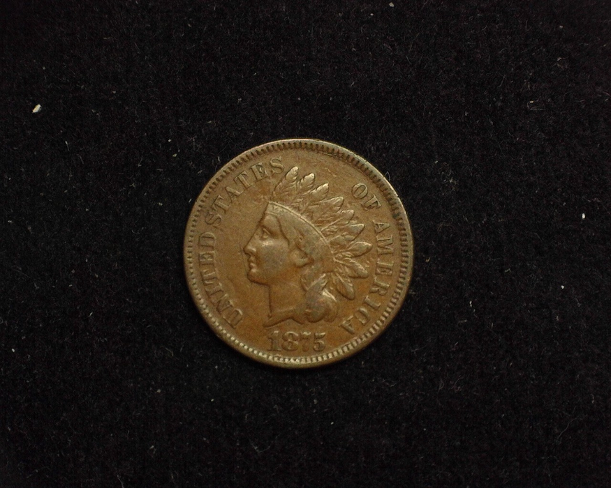 1875 Indian Head F Obverse - US Coin - Huntington Stamp and Coin